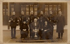 Firemen receive cup for first aid competition