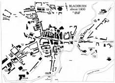 Blackburn Map About 1800