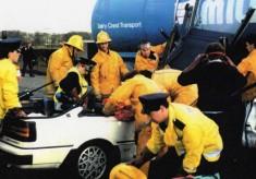 Milk Wagon Crash Longsight Rd Balderstone 1980's Red Watch