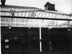 Blackburn Fire Station Storm Damage  1984