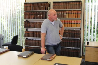 Stephen Brown on the cataloguing and digitising course 2013