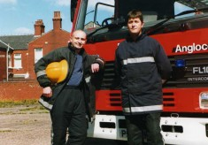 Firemen With Newest Fire Engine  2000's