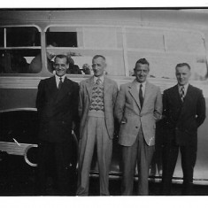 1950 on the right Gareth Davies with firemen on a outing. One of the other firemen is Bill Sowerbutts. If anybody out there recognises anyone in any of the attached pictures please let us no.