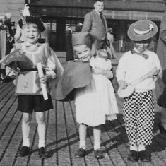 Gareth's two sons and daughter at the Coronation party 1953.
