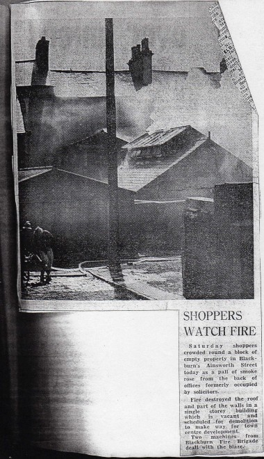 Ainsworth Street Fire 1970's