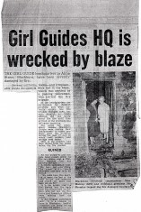Girl Guides H.Q. Wrecked By Blaze