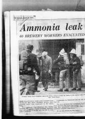 Ammonia Leak At Whitbreads On High Street