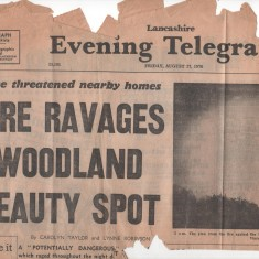 Billinge Woods Fire 1976