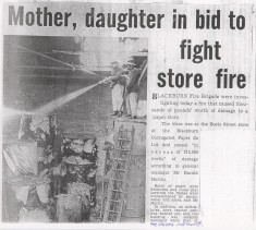 Blackburn Corrugated Paper Mill On Fire