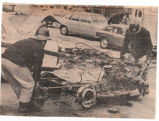 Unknown Car Fire 1970's