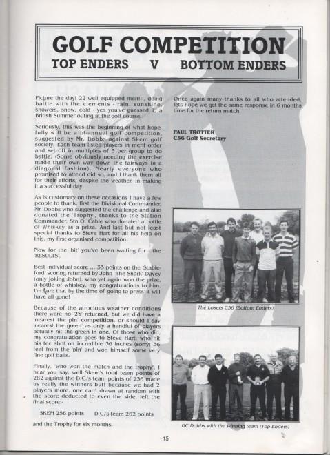 Golf Competition, Alan Burgess 1990/91
