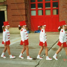 just one of the many cheerleading teams