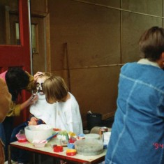 face painting performed admirably in main by Ruth Fuller and Eileen Fogarty