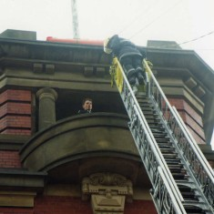 and rescue using the turntable ladder