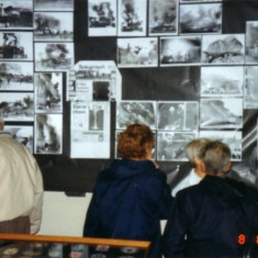 showing early display boards unfortunately being new to the museum idea very little information was put with the photos
