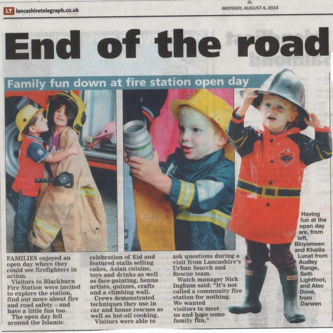 Fire Station Open Day Article 2014