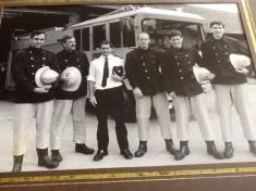 Darwen Firemen Pose Outside Fire Station