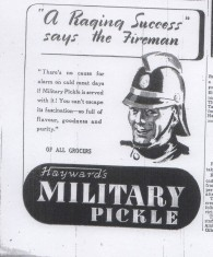 Advertisement For Haywards Pickle