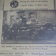 Darwen Fire Engine Hearse