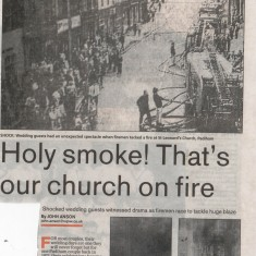 Padiham, Holy Smoke That's Our Church On Fire