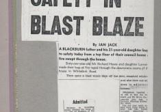 Pair Leap To Safety In Blast Blaze