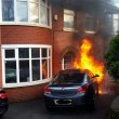 Fire Engulfs Car On West Leigh Road