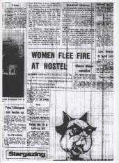 Women Flee Fire At Hostel