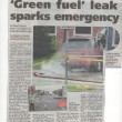 """Green Fuel"" Leak Sparks Emergency"