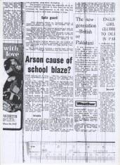 Arson Cause Of Old School Blaze