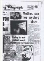 Accrington, Mother and son flee mystery blaze