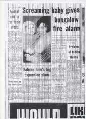 Screaming baby gives bungalow fire alarm