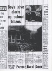 Boys give alarm as school blazes