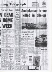 Ambulance driver killed in pile up Belthorn