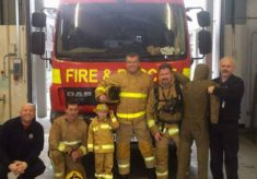 Theo's Neuroblastoma Visit To Blackburn Fire 26th Jan 2016