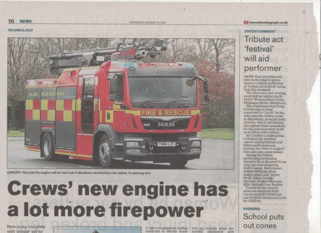The Brigades Newest Fire Engine At Blackburn