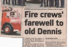 Fire Crews Farewell To Dennis