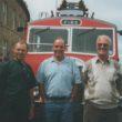 Three Older Ex Firemen At A Vintage Car Rally