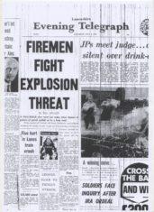 Firemen Fight Explosion Threat