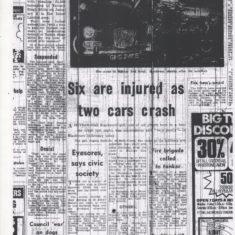 Billinge End Road Car Crash 6 Injured