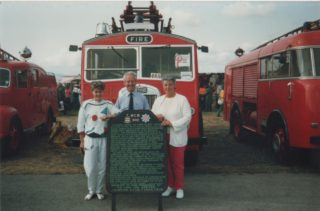 Bob France ,Bill Whiteley and wives winning vintage rally 1990's