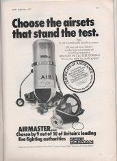 Advert Airmaster Breathing Apparatus Set
