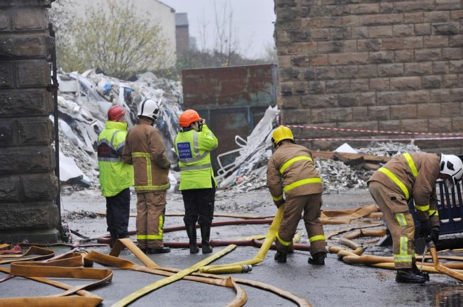 Former V10 Polymers Site Fire Pattison Street
